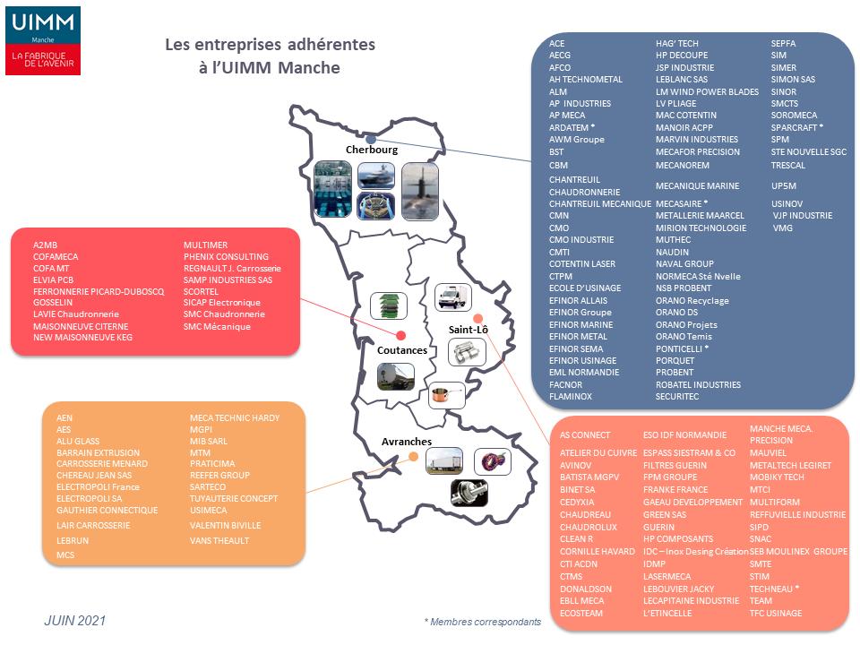 UIMM Manche Présentation Carte adhérents 2021 06 01